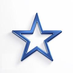 Star. 3D Rendering Illustration