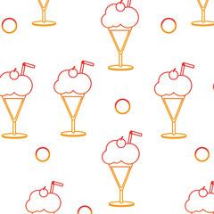 Milkshake background design