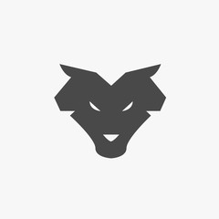 Wolf animal icon wildlife werewolf wolves vector symbol or logo eps10