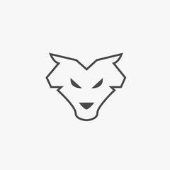 Wolf animal icon wildlife werewolf wolves vector symbol or logo eps10