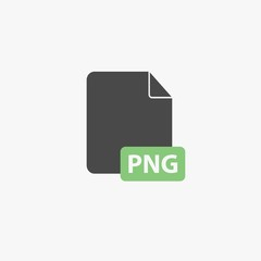 PNG image file format vector icon