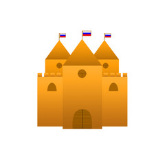 замок с флагами