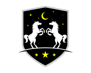 night horses shield stallion mustang mare ranch image
