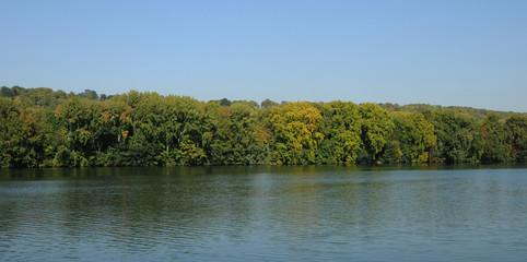 Les Mureaux; France - september 30 2011 : Seine riverside
