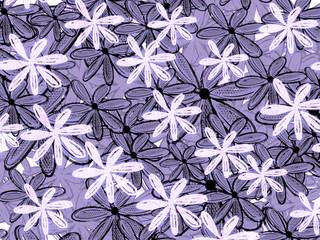 Monocrome Hawaiian Style Floral Pattern Backdrop