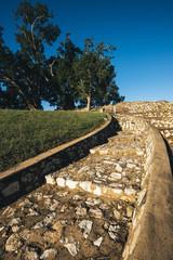 Large stone structure landmark in Ipswich, Queensland.