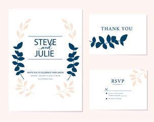 Wedding card inviation template