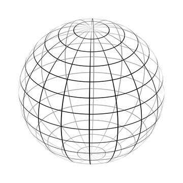 The frame of the earth is a simple black and white form.