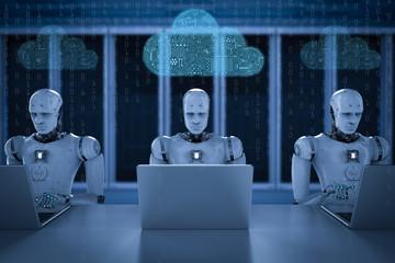 circuit cloud with robot