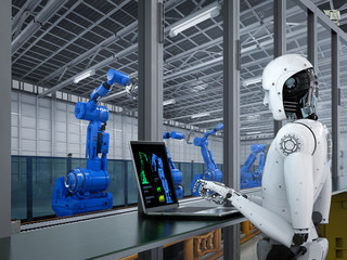 robot in factory