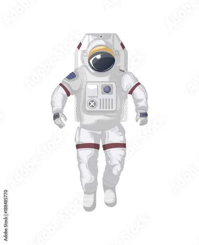 Modern space suit isolated icon. Spaceman equipment, cosmic