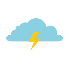weather cloud rainy with ray vector illustration design