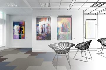 Gemäldeausstellung (Entwurf)