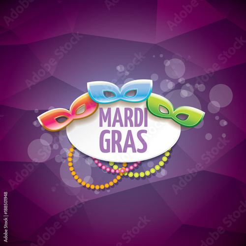 vector new orleans mardi gras vector violet background with blur