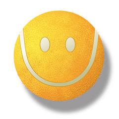 tennis - balle de tennis - sourire - sport - symbole, gagner - champion - concept - succès - réussite