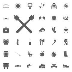 Marshmallow icon. Camping and outdoor recreation icons set
