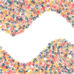 Vector Confetti Background Pattern. Element of design. Color spirals on a white background