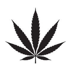 Weed Marijuana cannabis leaf vector illustration icon logo