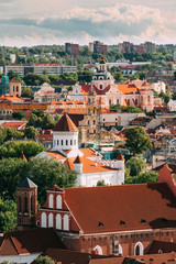 Vilnius, Lithuania. View Of Church Of St. Casimir, Church Of Blessed