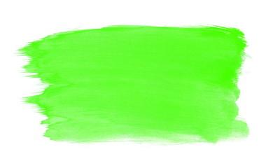 Gemalte Fläche mit grüner Farbe