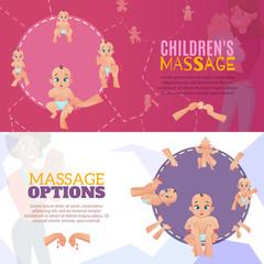 Baby Massage Banners Set