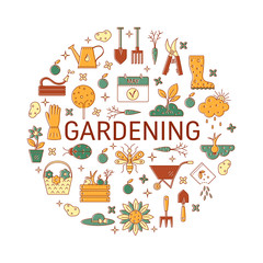 Vector gardening icons collections