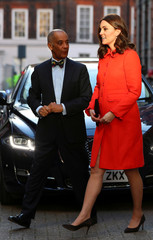 Britain's Catherine, the Duchess of Cambridge, arrives to visit Great Ormond Street Hospital, in London