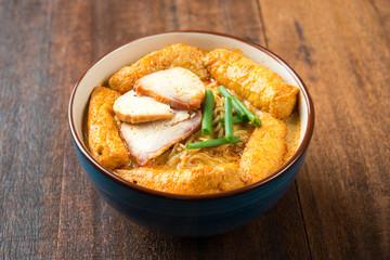 Hot Curry Laksa Noodles Asian food