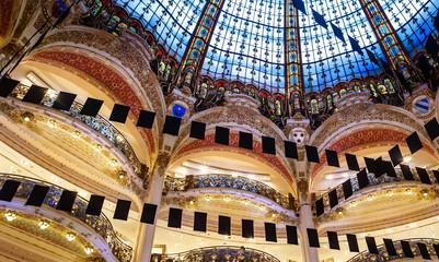 Galeries Lafayette Haussmann department store, Paris, France.