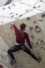 Rock climbing female