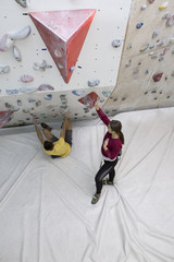 Rock climbing couple training