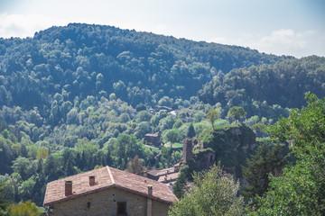 Landscape in Rupit, Costa Brava, Catalonia, Spain