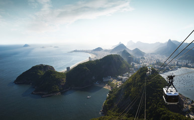 Fototapete - Panorama of Rio de Janeiro from Sugarloaf mountain, Brazil