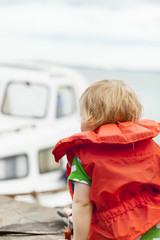 Girl in life jacket
