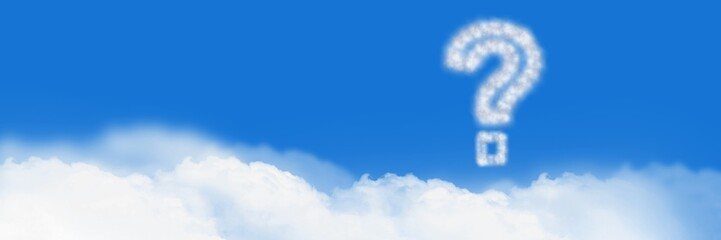 Question mark Cloud Icon with sky