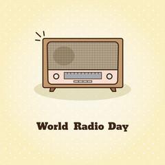 World radio day. Vector illustration of radio.