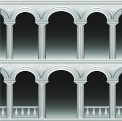 arch, element of the palace, columns and balustrades