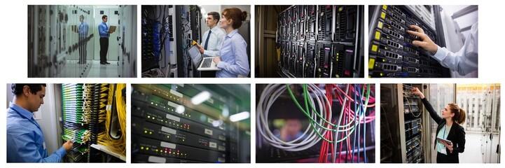 hardware server room collage