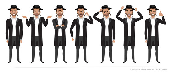 jew vector character isolated on white background