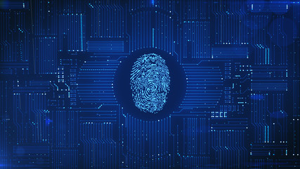 Digital fingerprint ID system with circuit background