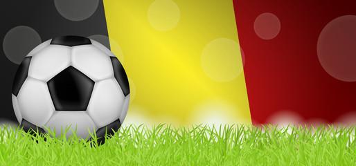 Fußballwiese - Flagge von Belgien