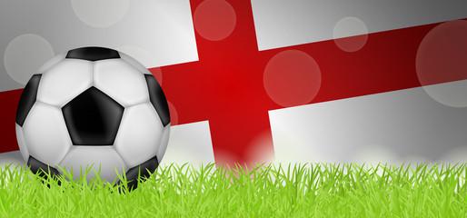 Fußballwiese - Flagge von England