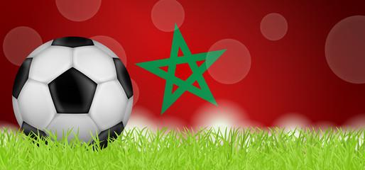 Fußballwiese - Flagge von Marokko