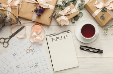 Wedding planner background