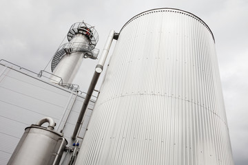 Low angle view of silo