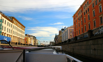 View of old buildings along the canal, with a river walk along the canals and rivers of the city..