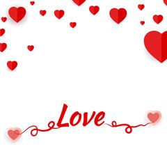 Happy Valentine's Day Romantic Greeting Card. Vector, illustration eps10