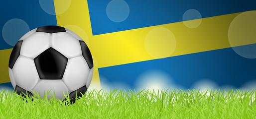 Fußballwiese - Flagge von Schweden