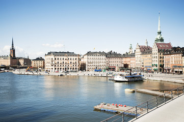 Cityscape of Stockholm on sunny day