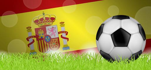Fußballwiese - Flagge von Spanien